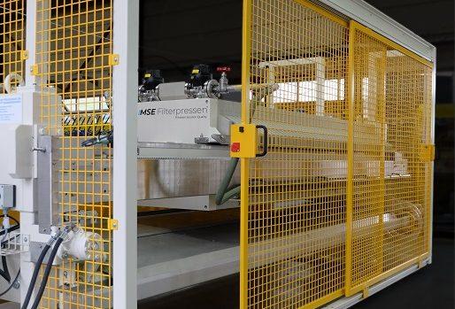 MONITORED SLIDING DOOR - filter press