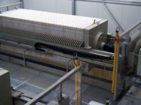 chamber filter press - automated - size 1500x1500mm on site