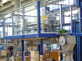 chamber filter press incl. conveying system on rack