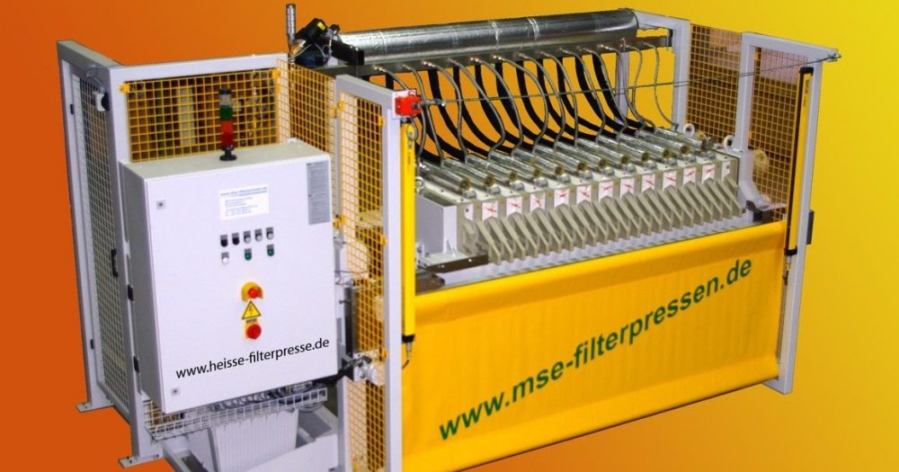 hot filter press - size 630x630mm