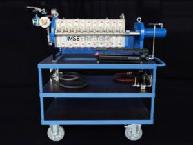 laboratory filter press - on wagon - fully equipped