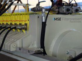 membrane filter press - detail view