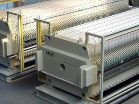 membrane filter press - incl. monitored sliding doors - size 1500x1500mm