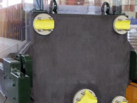 rubberised filter press - detail view - hard rubber coating