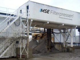 semi-mobile filter press plant - container - fully equipped