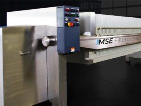 stainless steel filter press - control panel