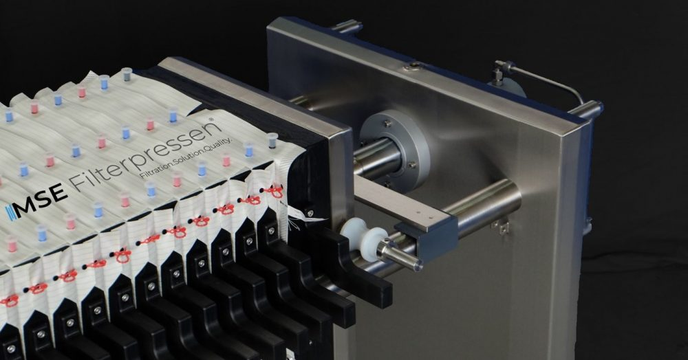 stainless steel filter press - filter plates conform to FDA
