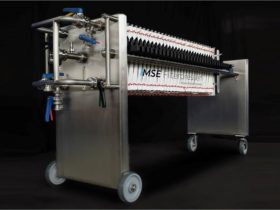 stainless steel filter press - mobile - size 470x470mm