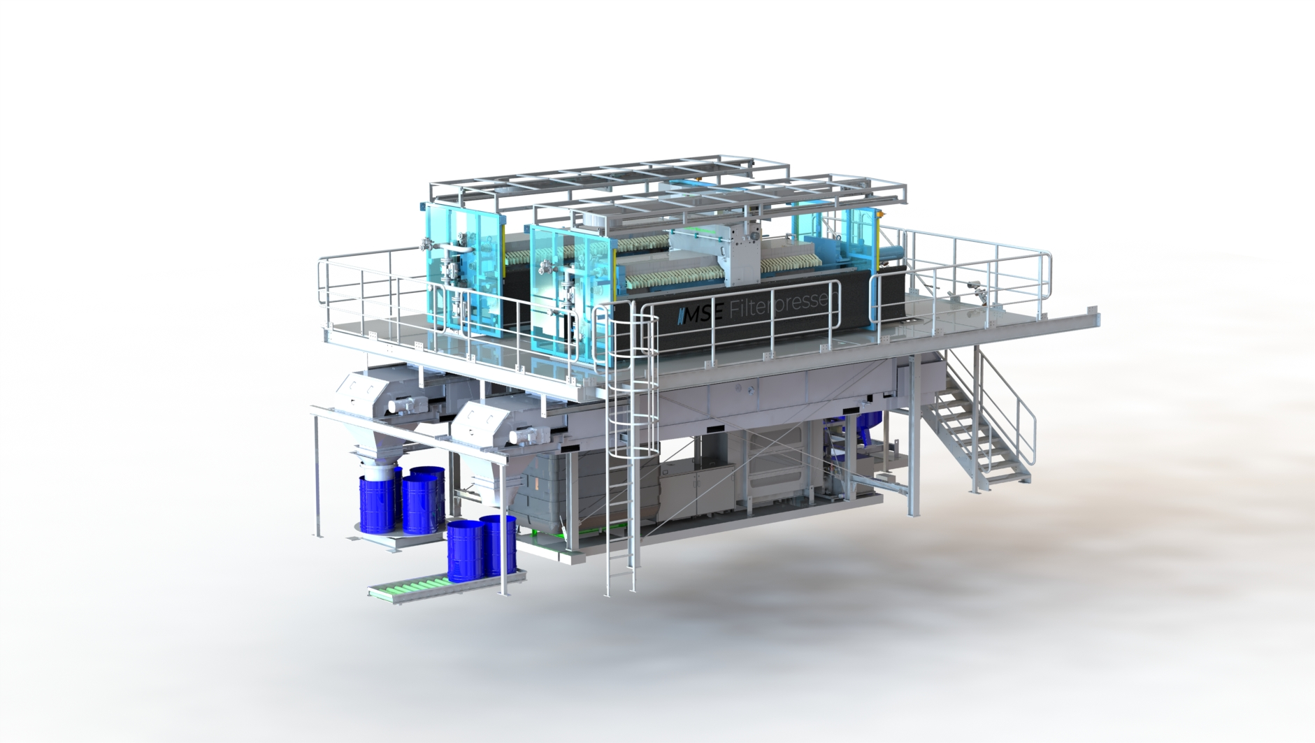 MSE fully equipped filter press plant