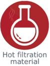 Application hot filtration material