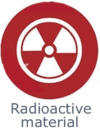 Application radioactice material