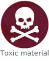 Application toxic material