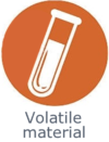 Application volatile material